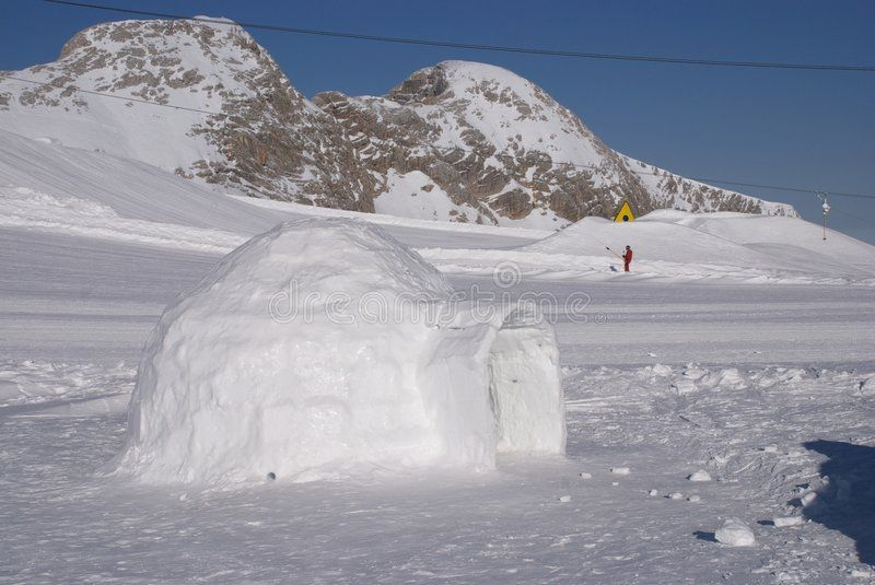 Ice igloo 4. Ice igloo in the Alps ,