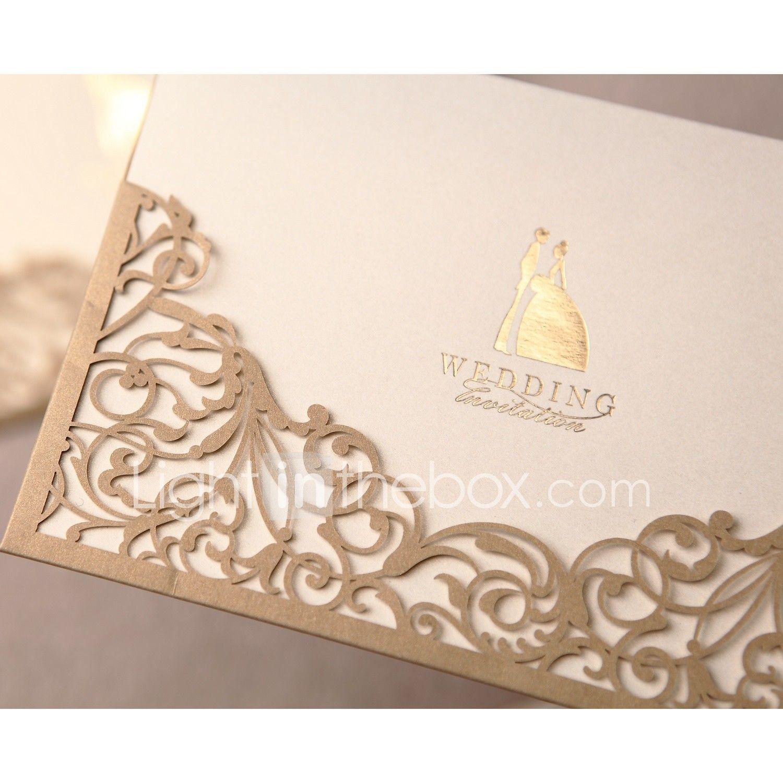 Folded Wedding Invitations 50-Invitation Cards Formal Style Classic ...