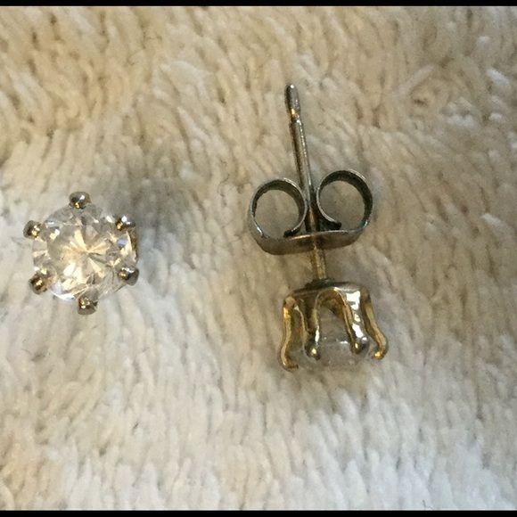 Tiny round CZ earrings Tiny round CZ earrings Jewelry Earrings