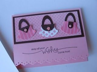 Such sweet and easy card. I could see many variations from purses, shoes, hats (red), or baby, wedding ideas.