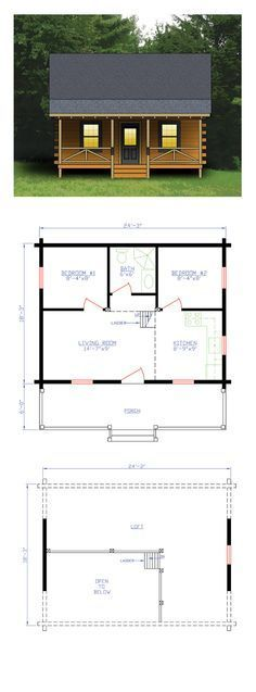 Log home plan total living area sq ft bedrooms and bath loghome houseplan also rh pinterest