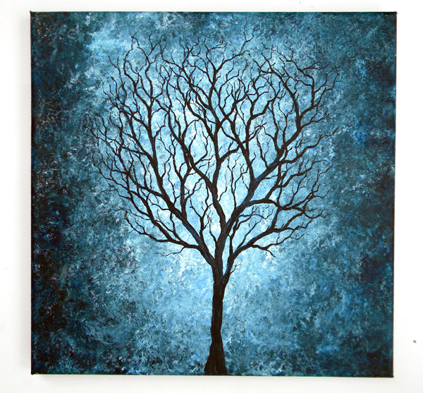 paintings of trees | Blue Tree Painting 12X12 by blablover5 on ...