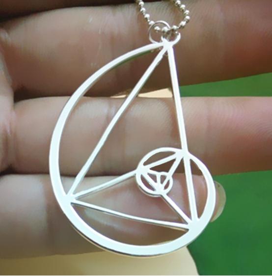 Photo of Golden Triangle Halskette Schmuck Charms – Fibonacci-Golden Ratio – Schmuck …