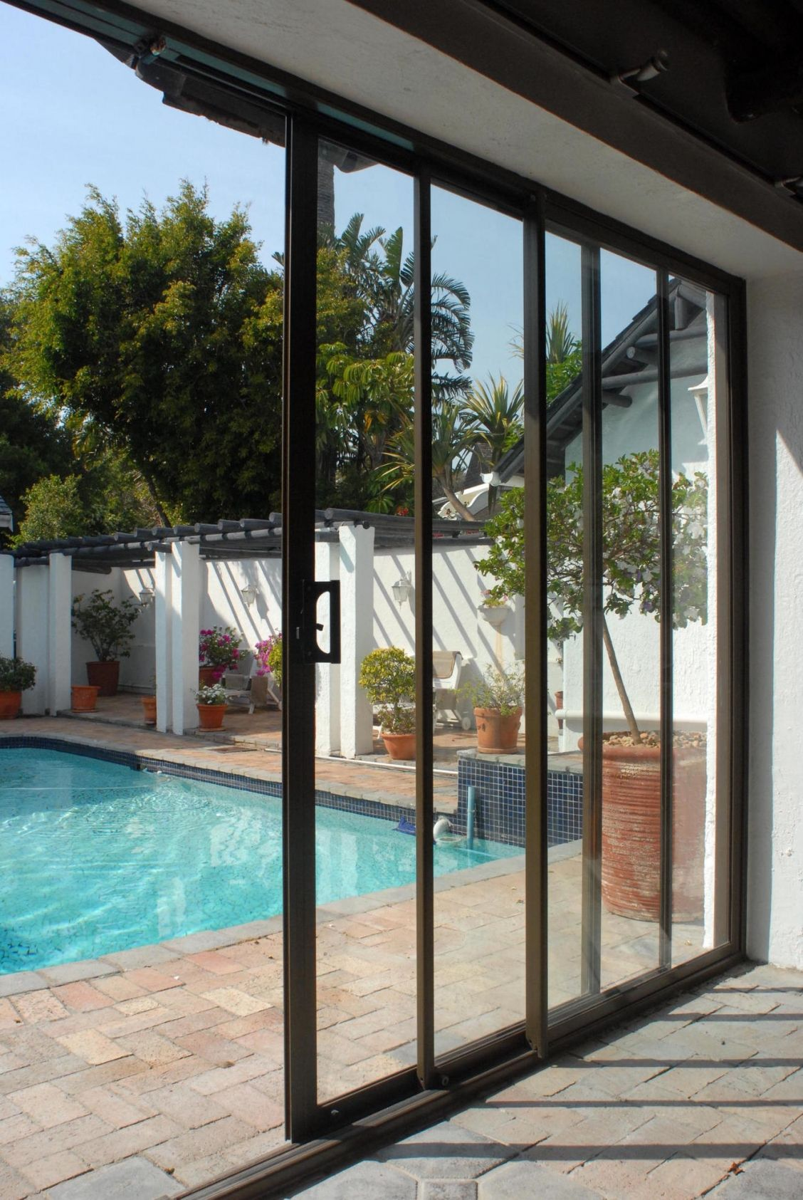 triple panel sliding patio doors
