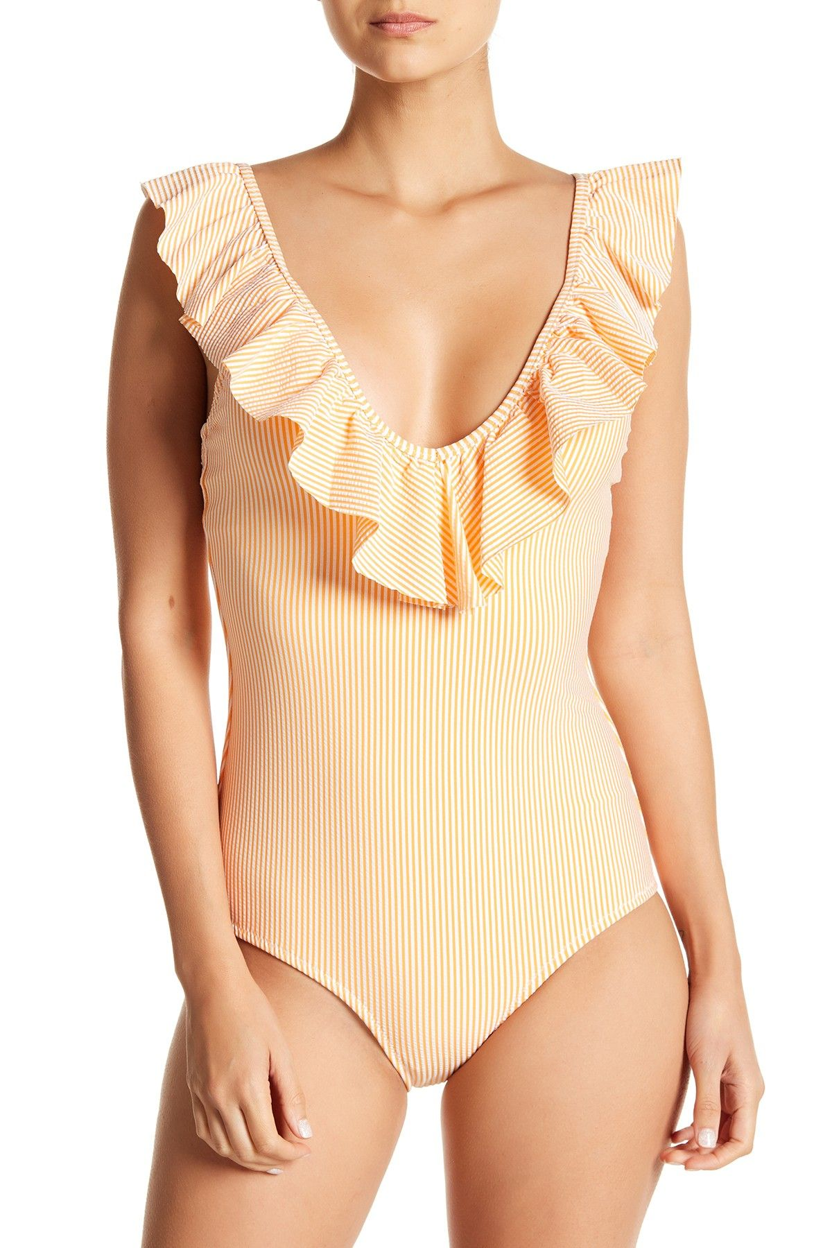3ae4b9331fd56 Flutter Sleeve Stripe Swimsuit by Jessica Simpson on  nordstrom rack