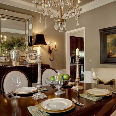 Benjamin Moore Gettysburg Grey Wall Color Dream Dining Room
