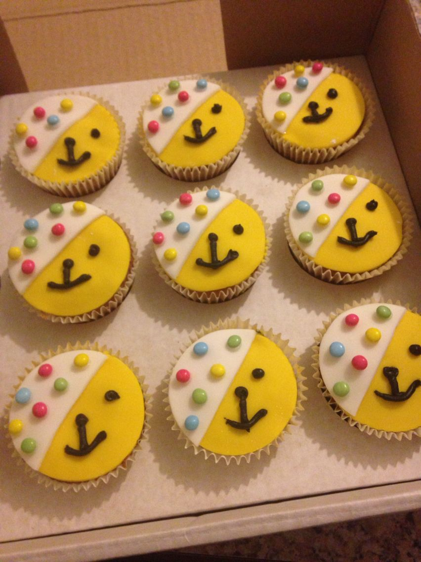 my pudsey cupcakes for children in need bake sale | ideas for