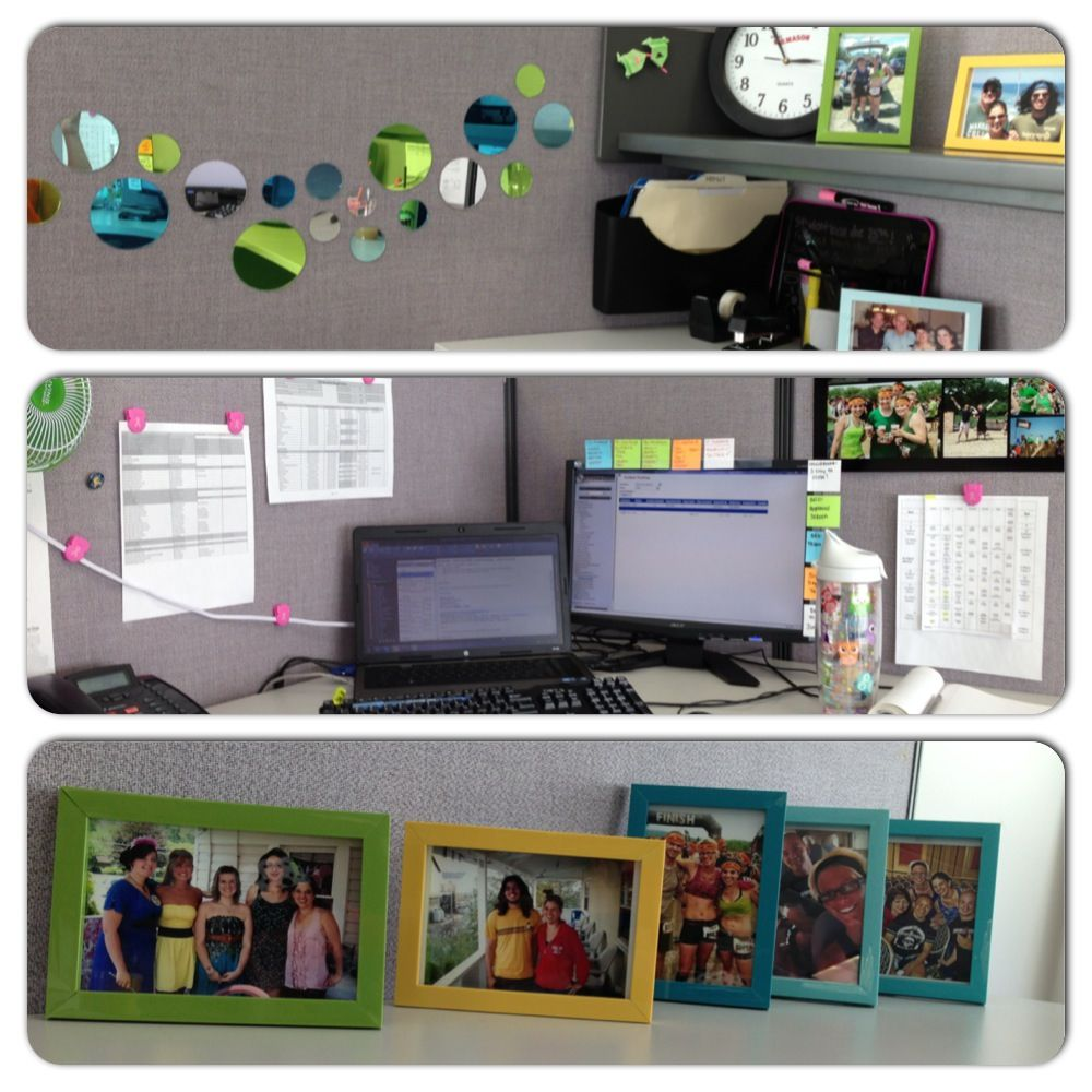Add some pop of color to your boring grey office cubicle ...