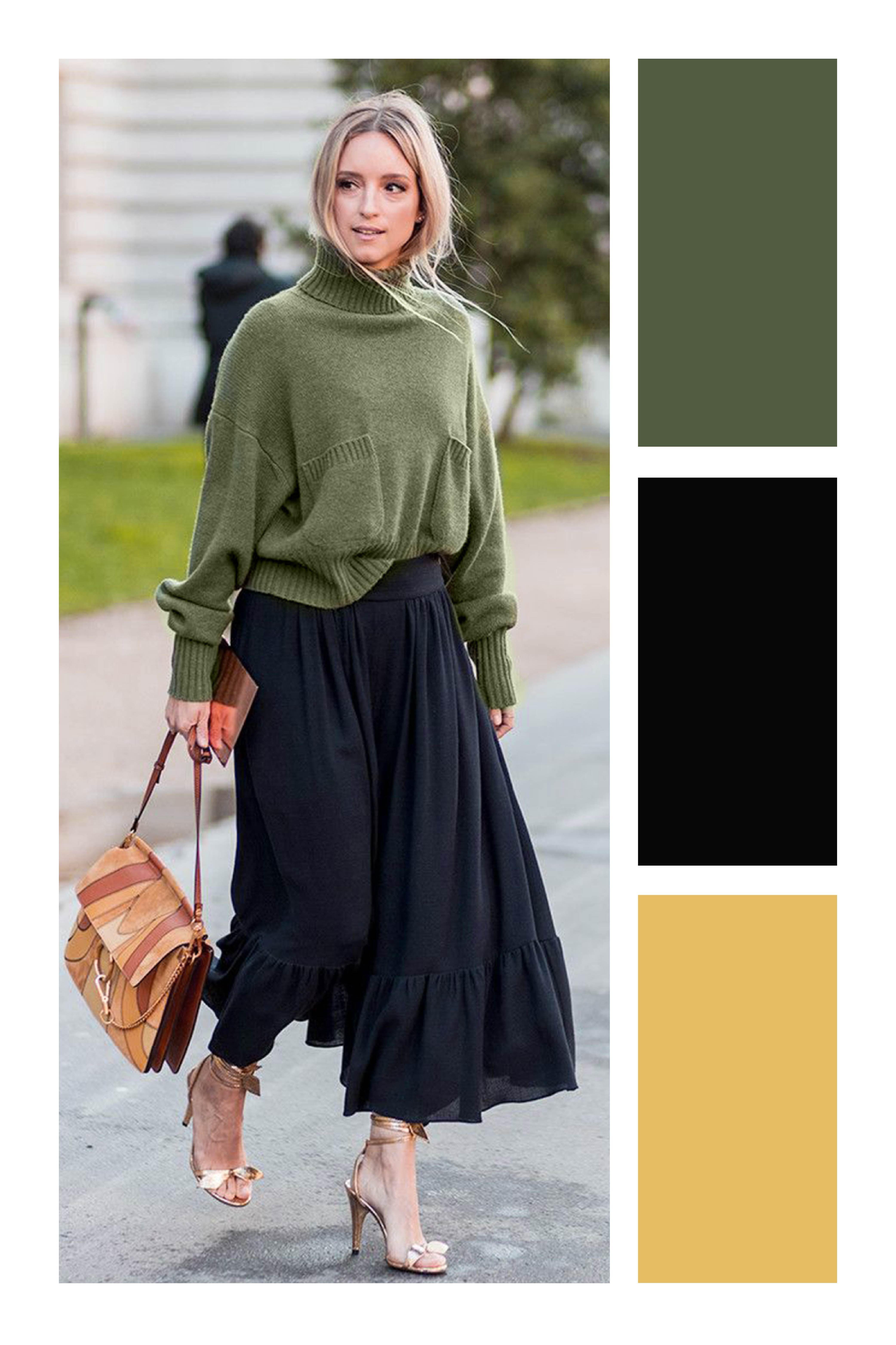 Cómo Combinar El Color Verde Militar In 2019 Vestuario Color