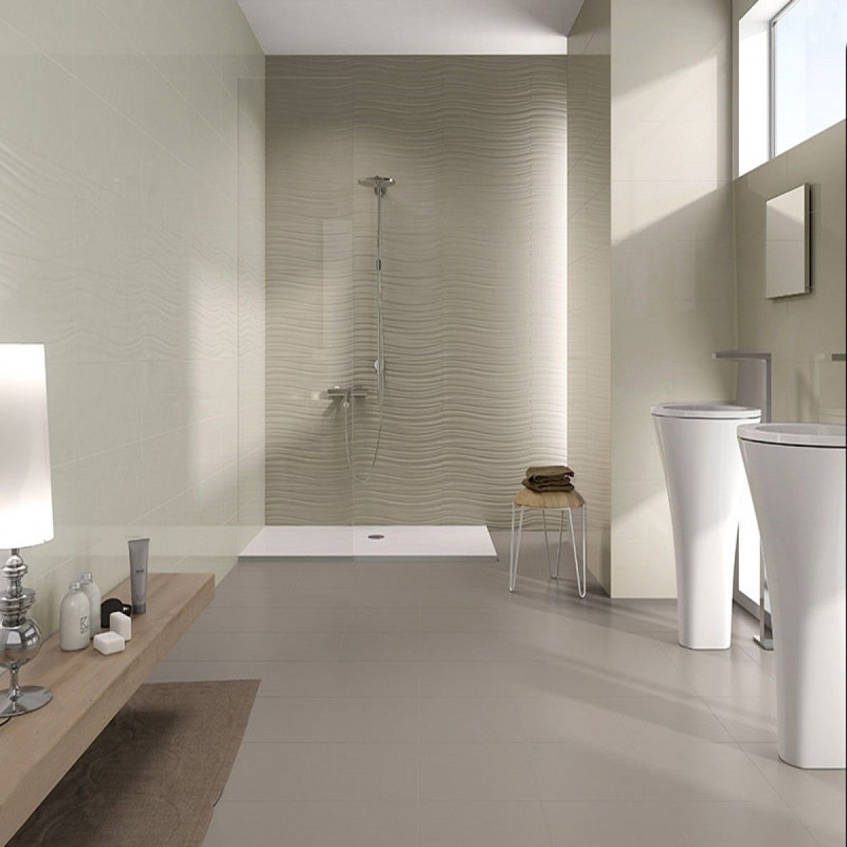 Decorative Wall Tiles For Bathroom Hampton Topoe Waves  600Mm X 250Mm  Decorative Wall Tiles