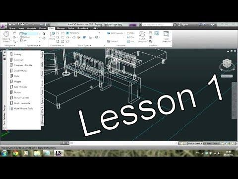 Autocad Architecture Tutorial For Beginners 1