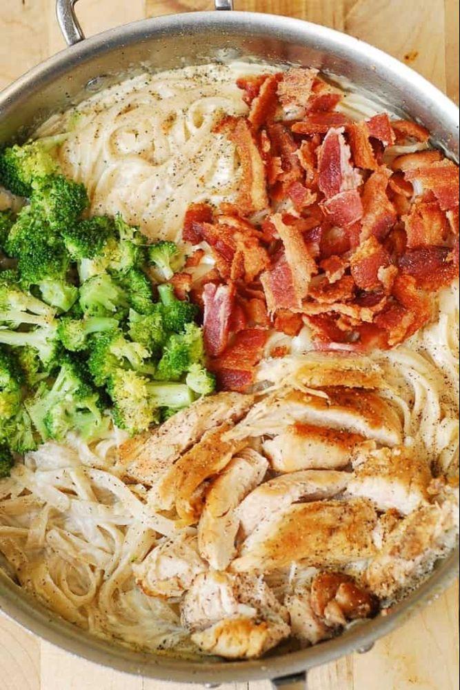 Chicken Broccoli Pasta with Bacon - Julia's Album