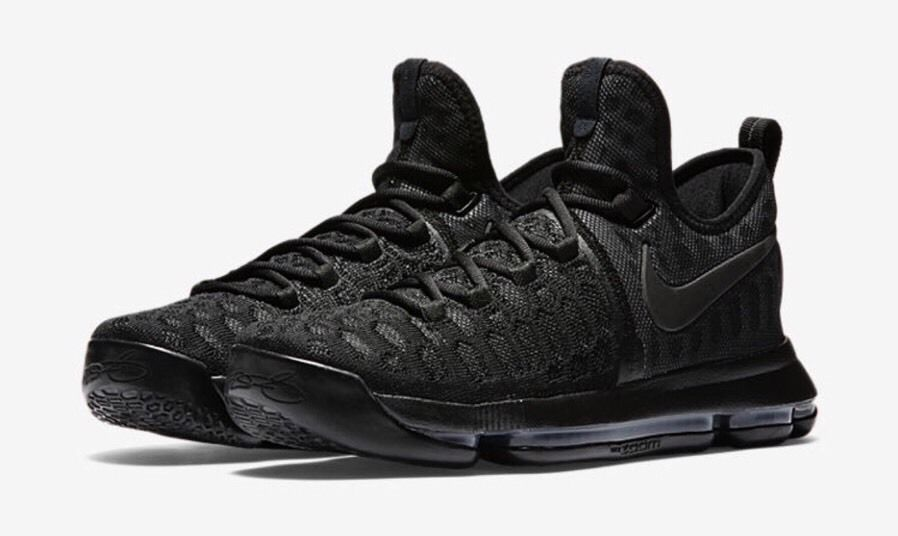 Nike Zoom KD 9 Mens Basketball Shoes 14 Triple Black Anthracite 843392 001. Kevin  Durant ...