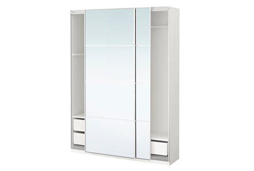 IKEA - PAX, Armoire-penderie Taille  200 x 66 x 236 cm Portes - armoire ikea porte coulissante