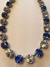 ebay user: ahhmj @ $28.99  ��Fun Size Necklace/Choker Blue Sapphire Made W/ Swarovski Crystals In Sapphire