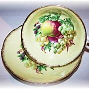 Royal Grafton England Apples, Berries , Grapes Tea Cup & Saucer