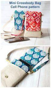 Mini Crossbody Bag Cell Phone pattern - Sew Modern Bags       This image has get 2 repins.    Author: Christine K #Bag #Bags #cell #Crossbody #Mini #Modern #pattern #phone #Sew