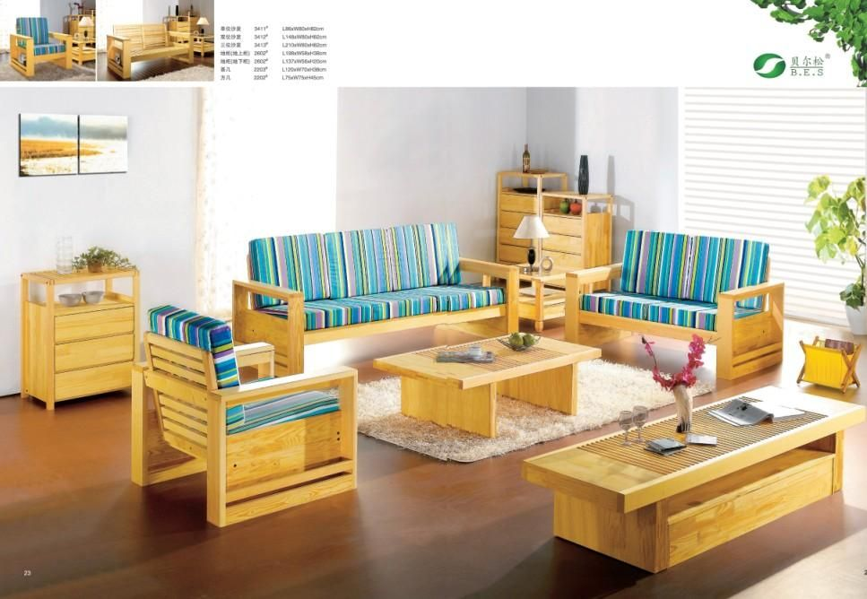 Delightful Wood Living Room Furniture: China Full Living Room Furniture Set From  Natural European Pine Wood Part 18