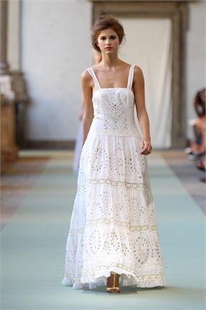 new product 48581 ee07a Luisa Beccaria | Vestidos | Vestiti di cotone, Abiti lunghi ...