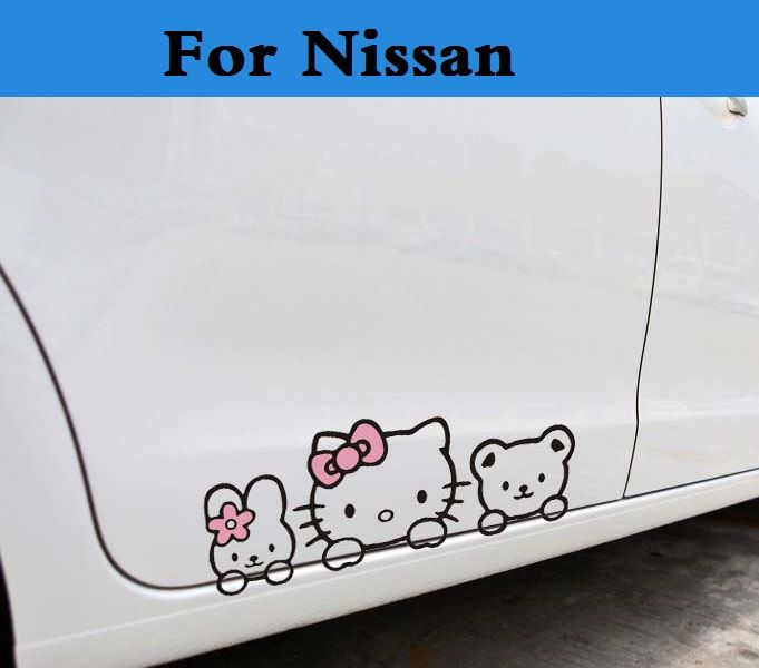 Funny Car Accessories Hello Kitty Car Stickers And Decal For Nissan
