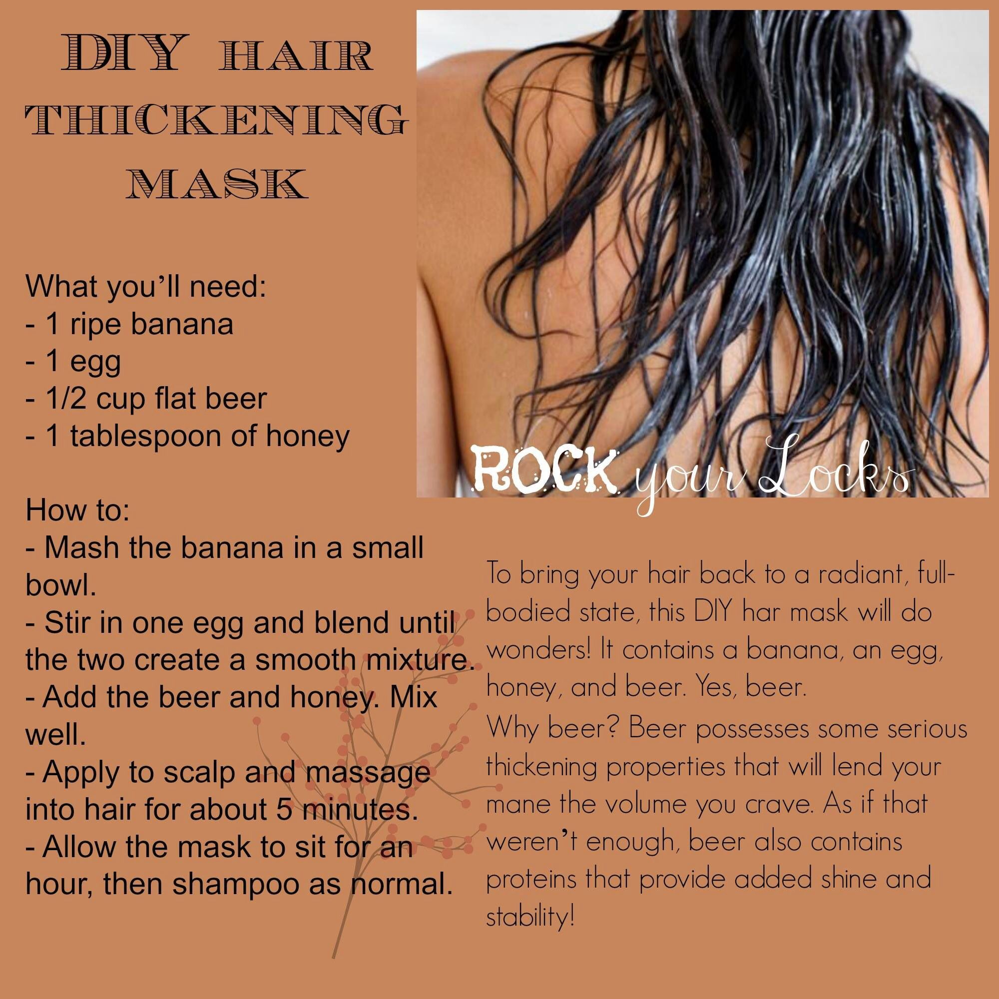 Hair Thickening Mask! I hope this works on my crazy thin