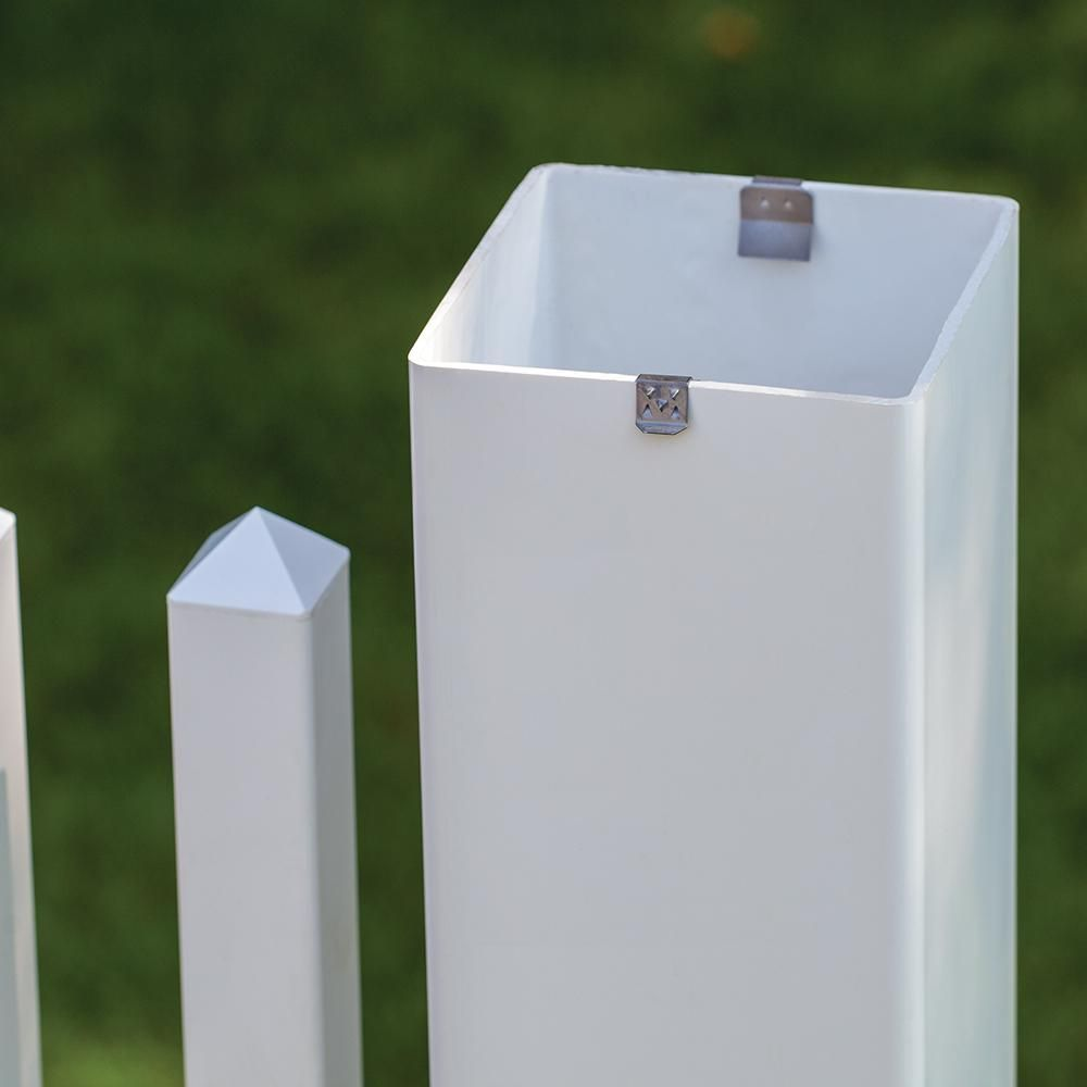 Veranda 3 4 In X 3 In X 4 1 2 In Vinyl Fence Post Cap Clip 73014080 The Home Depot Fence Post Caps Vinyl Fence Post Cap