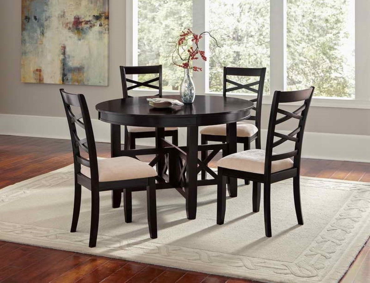 38++ Round dining table set black Best Seller