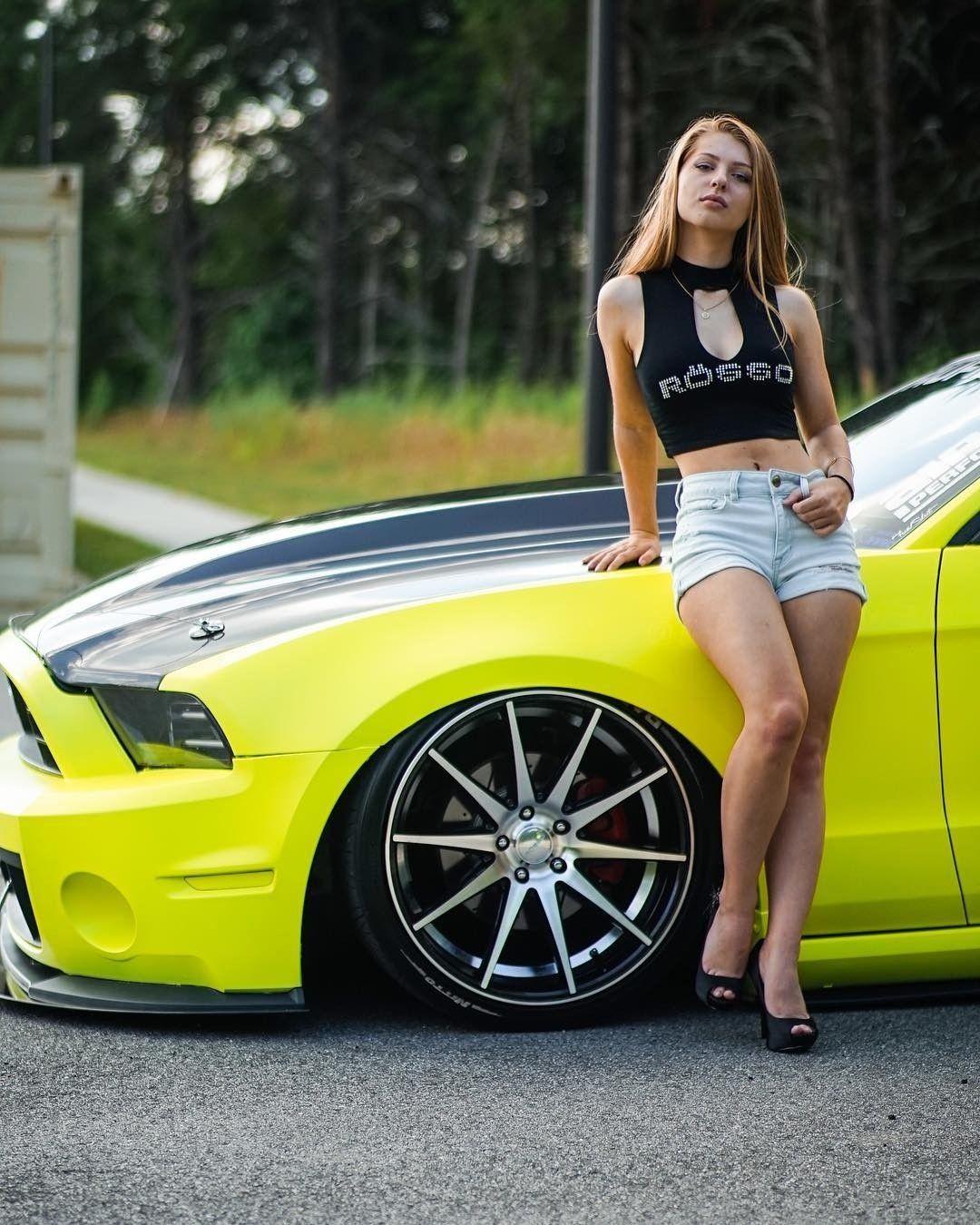 Mustang Woman Models And Hot Cars Mustang Cars Mustang Cars