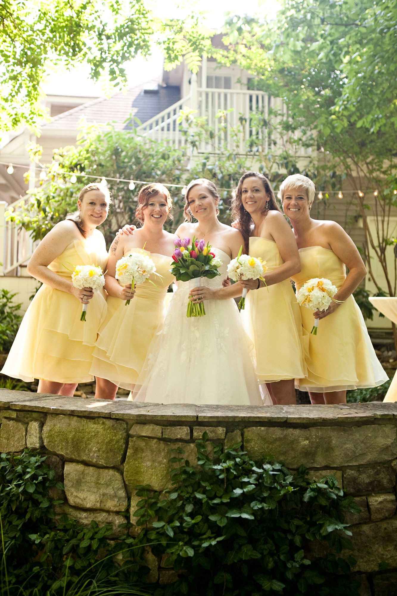 Nashville garden wedding pale yellow bridesmaid dresses photo nashville garden wedding pale yellow bridesmaid dresses photo mandy whitley weddings ombrellifo Images