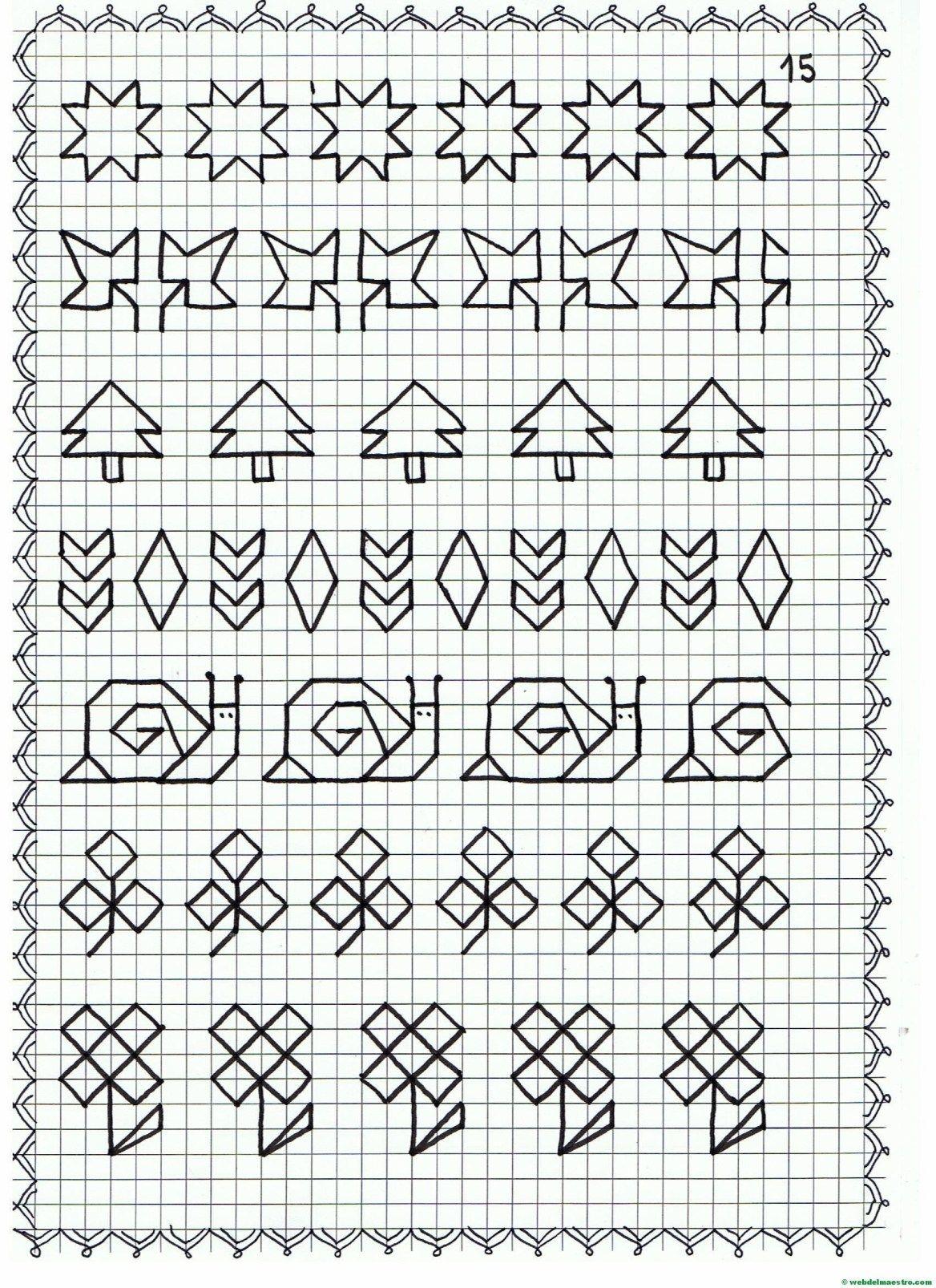 Cenefas Dibujos En Cuadricula Para Imprimir Web Del Maestro Dibujos En Cuadricula Cuadricula Para Dibujar Cuadricula