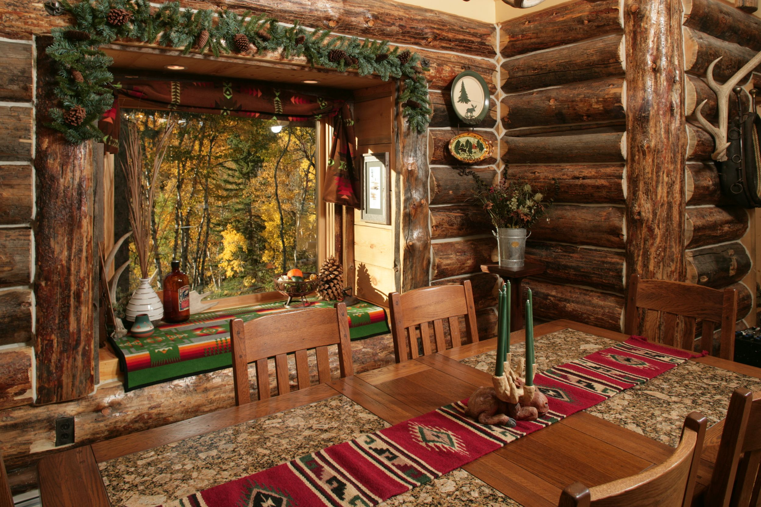 Log Cabin Interior Photo Gallery | ... Wood Works Inc. Acorn ...