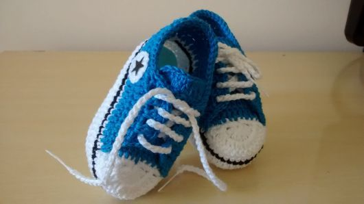 Crochet All Star Baby Booties Pattern Moms and Future moms know that ...