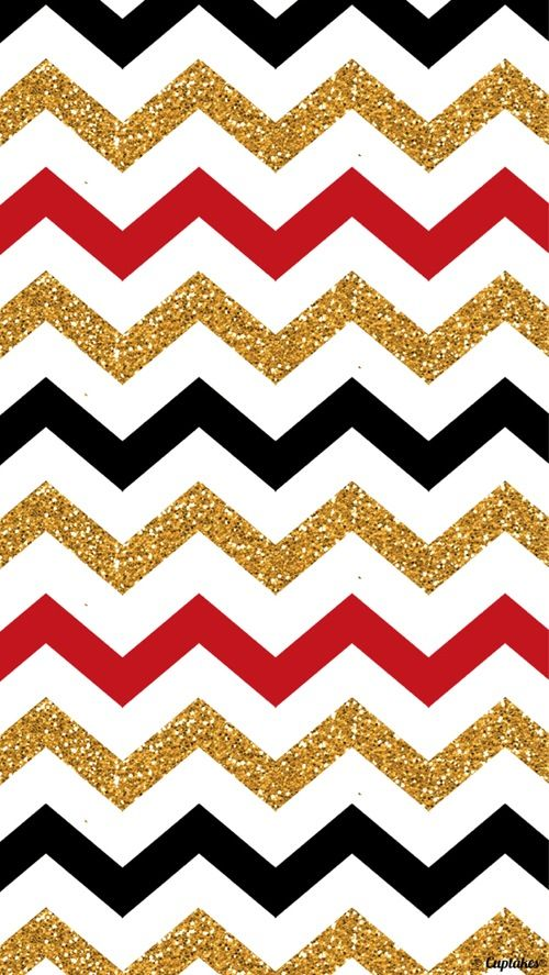 Red Gold Black Zig Zag Wallpaper For My Phone In