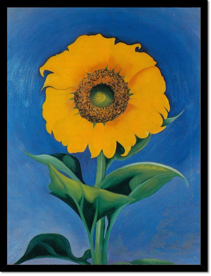 Sunflower 2 by Georgia O Keeffe in 2020 | Georgia okeefe ...