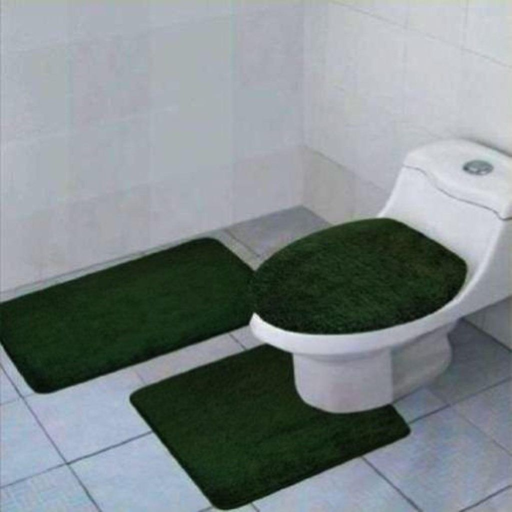 Hunter Green Bathroom Rug Sets
