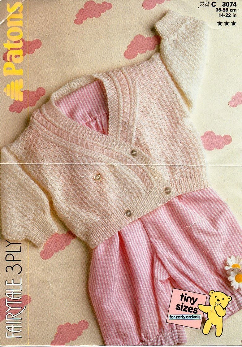 Baby 3ply cross over cardigan knitting pattern pdf premature baby baby 3ply cross over cardigan knitting pattern pdf premature baby crossover jacket double breasted vintage 14 bankloansurffo Choice Image