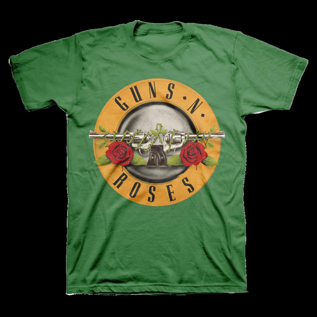 Guns N' Roses St. Patrick's Bullet TShirt Mens black