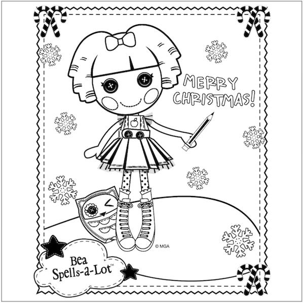 free lalaloopsy christmas coloring page
