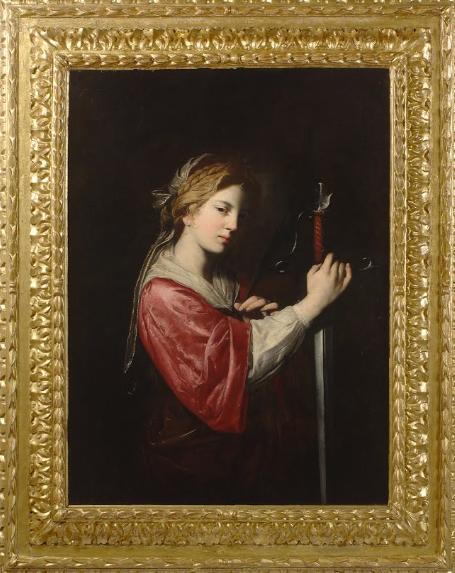 """Bartolomeo Bassante, """"Santa Caterina d'Alessandria"""", Olio su tela, Prima del 1650."""