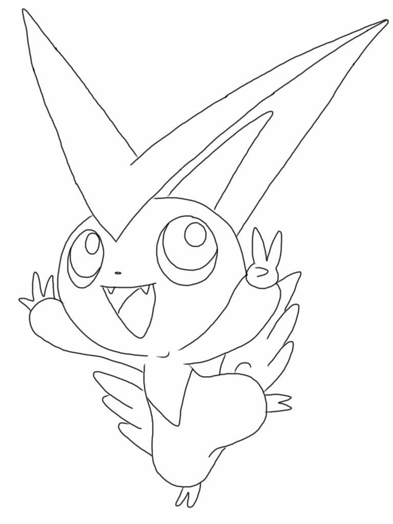 Pokemon Victini Coloring Pages Pokemon Coloring Pages Coloring