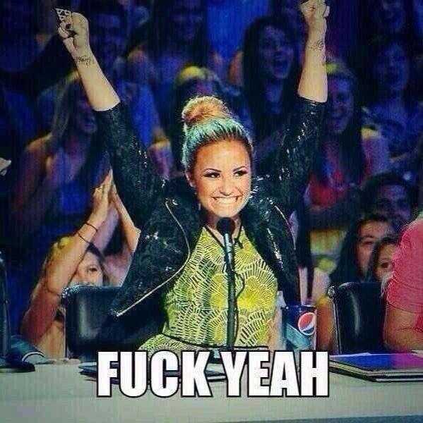 Demi Lovato - Fuck Yeah meme
