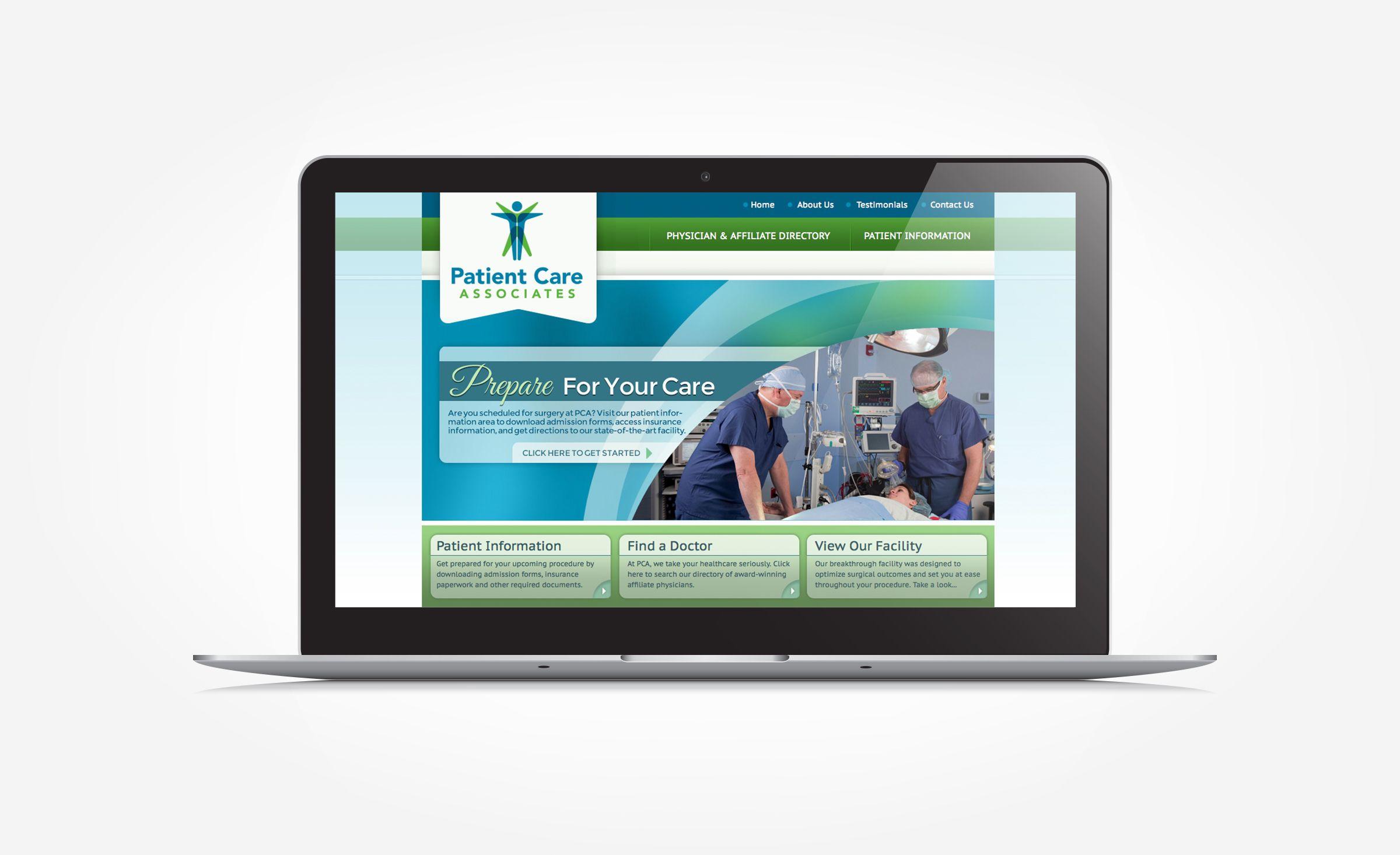 Patient Care Associates Graphic D Signs Portfolio Web Design Patient Care Web Design