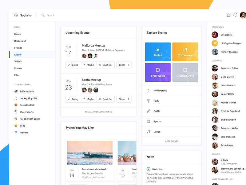Socialio Events In 2020 Web Design Event Bar Event