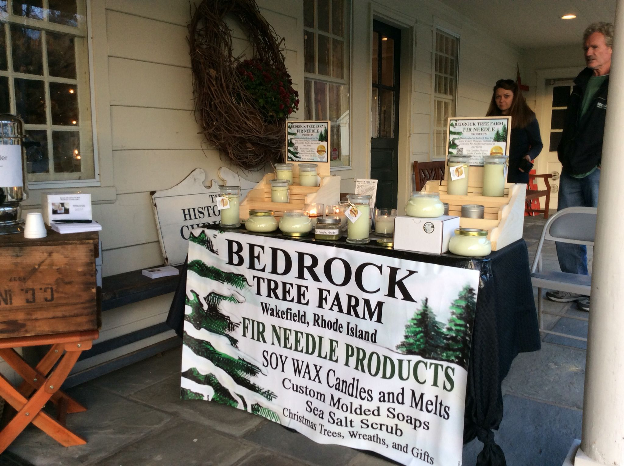 Rhode Island Christmas Tree Farm Owners Tom And Angie Make Fabulous Pine Fir Scented Soy Candles With Their Scented Soy Candles Tree Farms Christmas Tree Farm