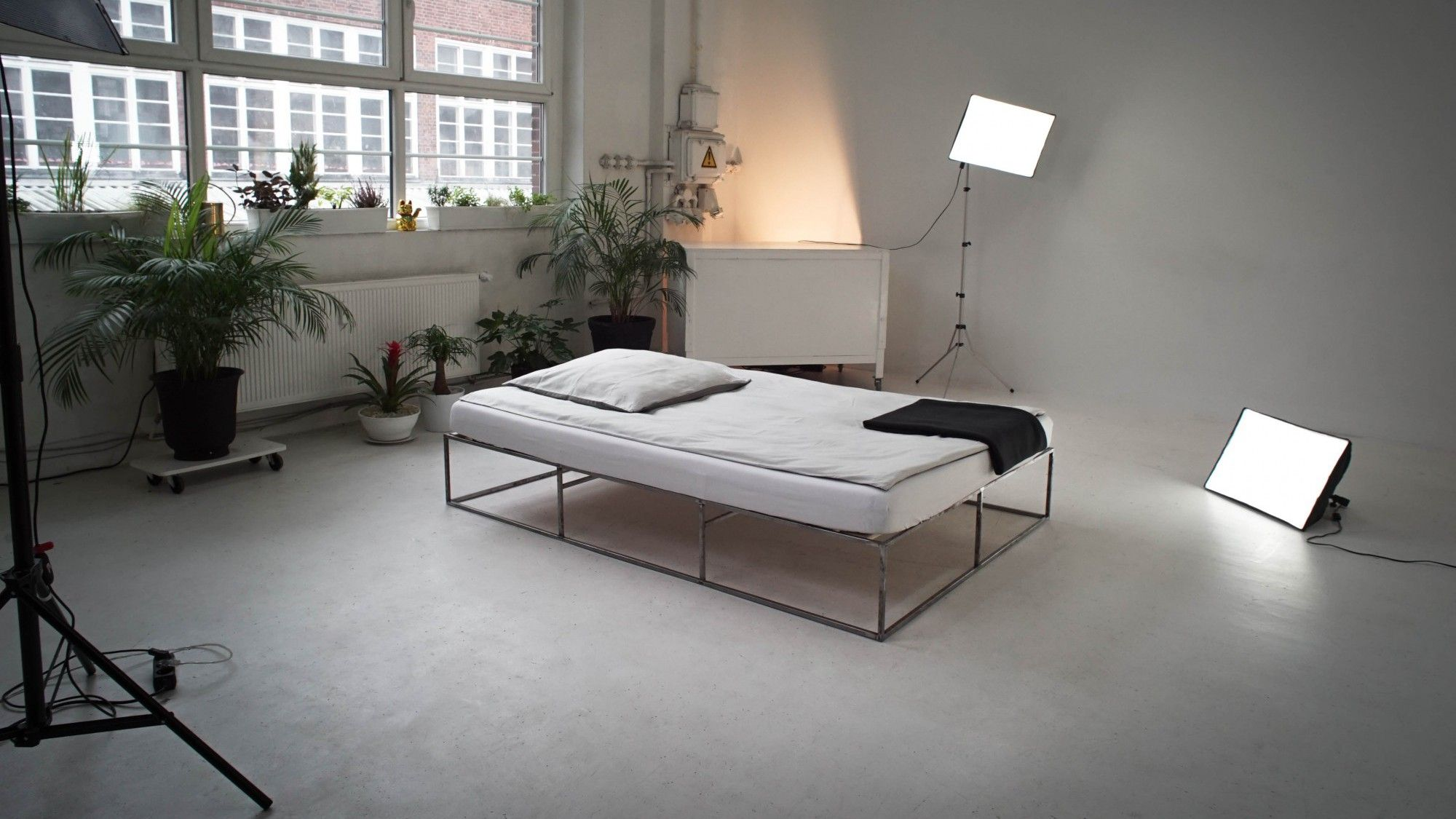 Ion The Minimalist Metal Bed In Industrial Design From Berlin