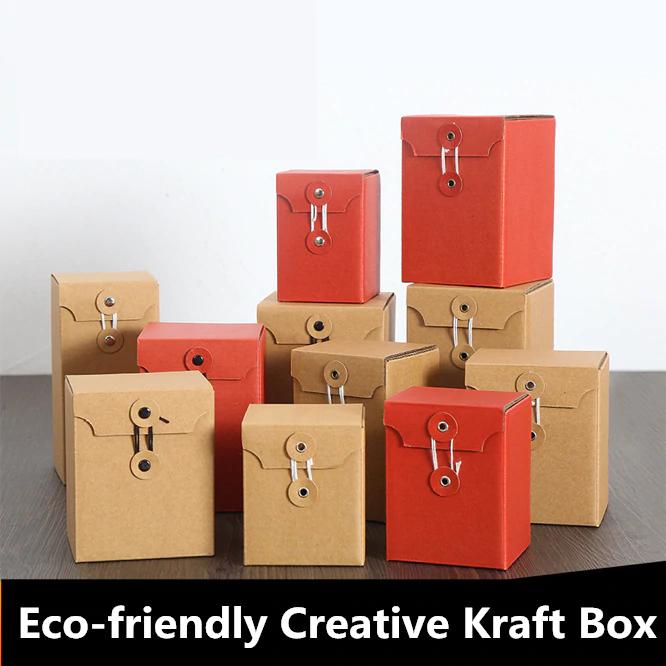 US $9.03 14% de réduction|Boîtes cadeaux créatives simples 10 pièces/lot | Avec corde, sac cadeau en papier Kraft écologique, bricolage, gobelets, boîte à bonbons, fournitures de fête | AliExpress