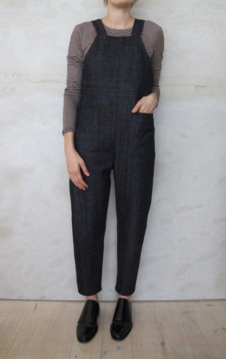 denim overalls, birgitta helmersson