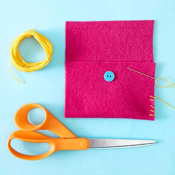Make It: Simple Pouch.  I have a couple of girls who love to sew things.  This would be a great beginner project!