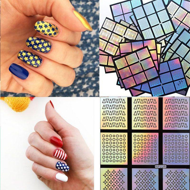 1.07 Diy Designs Nail Art Stencils Vinyl Decal Stickers