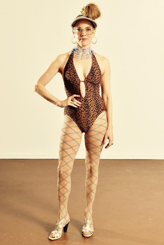 19339a7014 DKNY Leopard Print Bathing Suit/ Leopard Print Pin-Up One Piece Bathing Suit /